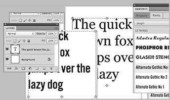 Web fonts extension to Photoshop